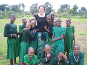 Wilinski poses with a group of former students in Bukoba, Tanzania. (Photo courtesy of Wilinski)