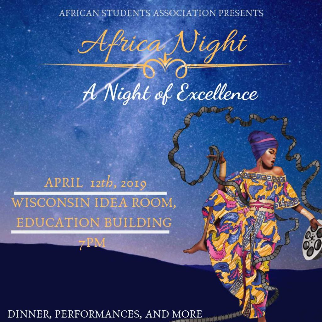 Africa Night of Excellence @ Wisconsin Idea Room, Education Building