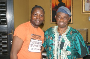 Olusegun Soetan and Tunde Kelani. Photo by Segun Soetan.
